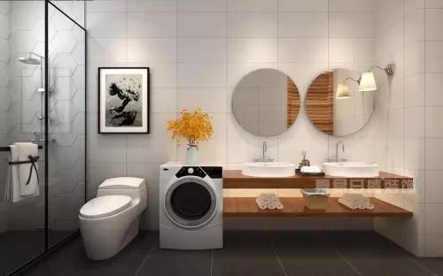 简约不简单的北欧风格卫生间瓷砖效果图片